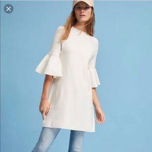 Anthropologie MOTH Ruffled Bell Sleeve Dress